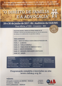PALESTRA NO CONGRESSO DO IBDFAM-MG